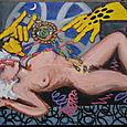 Ditko Hands, acrylic 1992