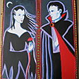 Vampire Couple, acrylic on masonite panels, circa 1993