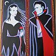 Vampire Couple, acrylic on masonite panels, circa 1993